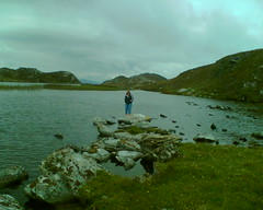 Steph at Three Castles Head (rosscads) Tags: lake highlands stephanie westcork mizenpeninnsula threecastleshead