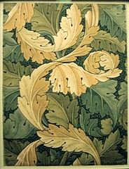 William Morris designs at the V&A (jrozwado) Tags: uk england london art museum design europe textile va victoriaandalbertmuseum acanthus nouveau williammorris decorativearts