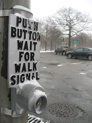 Button no one uses and snow