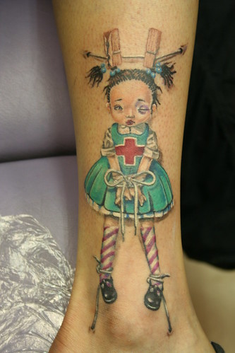 based on Trevor Brown doll tattoo Mirek vel Stotker
