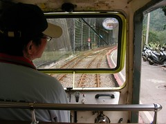 2007三月到烏來賞落櫻-烏來台車