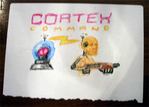 Cortex Command in Crayon Form