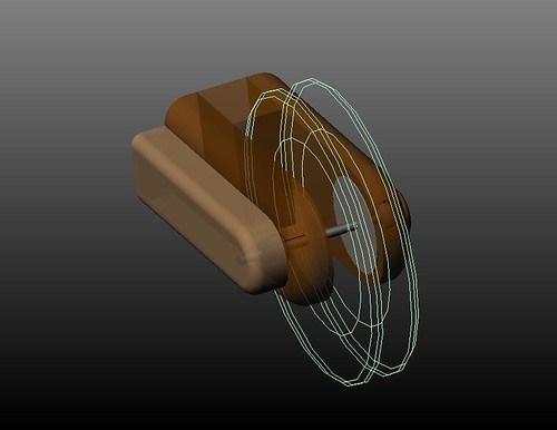 Complete Pulley and Encoder Assembly - transparent