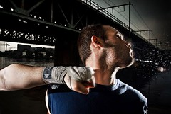 The Punch (drifs) Tags: bridge portrait man men face sport pain hit hurt couple dynamic arm action kick box muscle flash hard portraiture fist figure boxer pont violence punch boxing bang mal spitting strobe boxe coup bras violent poing saliva douleur sputum sportif sportive ehrhardt boxeur dynamique salive cracher crachat strobist drifs