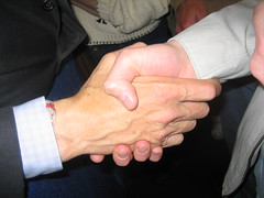President Clinton Shakes my Hand