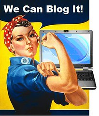 Rosie the Blogger (Mike Licht, NotionsCapital.com) Tags: muscles blog women rosietheriveter satire rosie wwii humor blogger blogs worldwarii blogging ww2 historical americana strong strength wecandoit anachronism worldwar2 secondworldwar americanhistory jhowardmiller flexingmuscles warposter warposters wwiiposter mikelicht notionscapitalcom