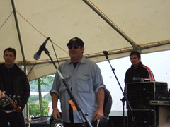 Dan Aykroyd on stage at the Shad Festival