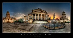 Gendarmenmarkt in Berlin (d.r.i.p.) Tags: longexposure panorama berlin night germany deutschland lights nikon nightimages widescreen drip architektur bluehour mitte hdr hdri nachtaufnahme gendarmenmarkt franzsischerdom roq photomatix d80 hdrpanorama superbmasterpiece vertorama hdraward