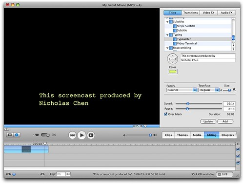 Adding an intro screen to your screencast