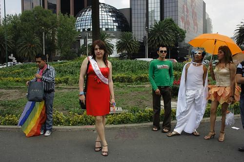 Jessica en la marcha LGBT