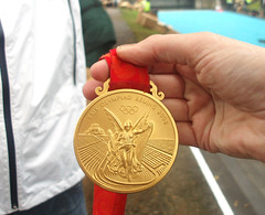 Today, I got to hold an Olympic Gold Medal!
