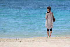 Beach (mrhayata) Tags: blue sea summer woman green beach japan geotagged aquarium blog sand creativecommons 日本 okinawa 海 churaumi 女性 砂浜 沖縄県 美ら海水族館 mrhayata エメラルドビーチ geo:lat=266986439 geo:lon=12787722