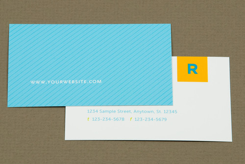 Colorful Real Estate Agent Business Card by inkdphotos
