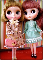 Lilly & Iris are modelling Takara Mabel May outfits I