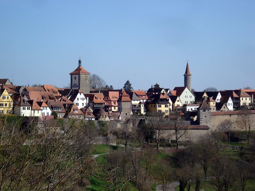 View of the wall and town