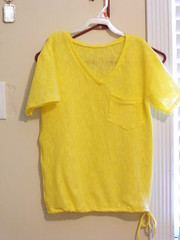 DSCF0164 (artjunki22) Tags: summer sunshine yellow handmade tshirt