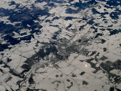 Coaticook, Quebec (MJ_100) Tags: above snow canada ice window plane airplane town view quebec aircraft aviation aeroplane aerial coaticook