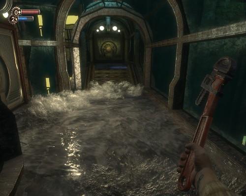 海水倒灌的特效是BioShock一大亮點
