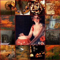 October Spirit (Cabinet of Old Secret Loves) Tags: autumn fall halloween vintage cemetary pumpkins ghosts
