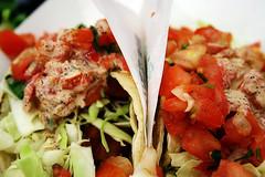 Fish tacos @ Baja Fresh (vidalia_11) Tags: food lunch fastfood mexicanfood fishtacos bajafresh picodegallo