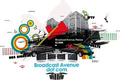 Personalwork/ test for Broadcast Avenue ([GW] GrafikWar) Tags: broadcast poster design experimentation avenue graphique grafikwar