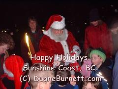 12Dec03Photos 031 (Duane Burnett) Tags: santa christmas sunshine creek happy bay coast holidays harbour ships story solstice gibsons carol roberts davis past sechelt pender duane burnett