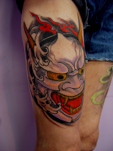 Mask Tattoo by Gotch - Harizanmai