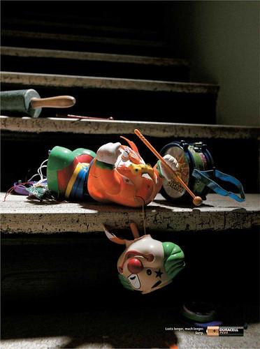 Broken drummer doll