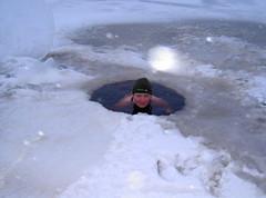 Ice swimming (miikisu) Tags: cold ice swimming finland tanja rautavaara avantouinti metsakartano