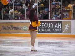Minnesota Gopher Ice Girl Cheerleader Minnesota Golden Gophers v Wayne State Warriors NCAA Men's Ice Hockey, Mariucci Arena (Beauty Playin 'Eh) Tags: snow ice cheerleader winterweather universityofminnesota collegehockey waynestate goldengophers ncaahockey minnesotagopherhockey mariucciicearena