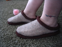 My slippers - after felting