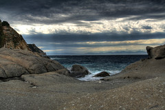The Shores of Elba (Scott Ingram Photography) Tags: ocean desktop wallpaper italy texture beach water beauty rock clouds dark ilovenature sandstone elba rocks aqua waves background hdr sanandrea photomatix tonemapped superbmasterpiece sipbotbfs