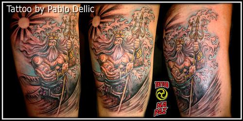 Tatuagem Netuno Neptune Poseidon Tattoo By Pablo Dellic