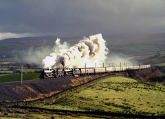 Black 5s on Shap 21-11-98 (prof@worthvalley) Tags: all transport railway steam locomotive types railroads shap 45407 45110 greenholme