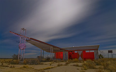 Dump Station (Noel Kerns) Tags: city newmexico abandoned station night gas whites