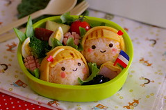 Blond girls bento (luckysundae) Tags: kawaii bento obento kyaraben