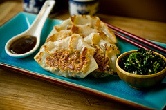 Pot Stickers (teenytinyturkey) Tags: hot mushroom fun vegan ve crispy takeout spicy easy seitan potstickers
