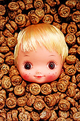 Cinnamon Bonnie (boopsie.daisy) Tags: food silly strange face fun yummy crazy funny doll cinnamon cereal delicious odd bonita bunch bonnie multiple freckles wacky crunchy quirky lots dollhead kooky