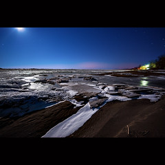 IMGP-3761 (Bob West) Tags: longexposure nightphotography winter moon ontario ice beach lakeerie greatlakes nightshots startrails lightroom sigma1020mm southwestontario bobwest k10d
