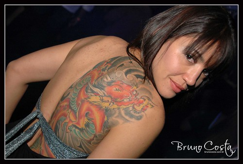 Picture Sexy Girls With Dragon Tattoos Design on The Body