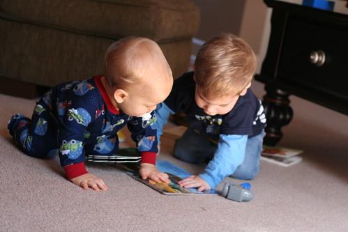 The Boys Reading