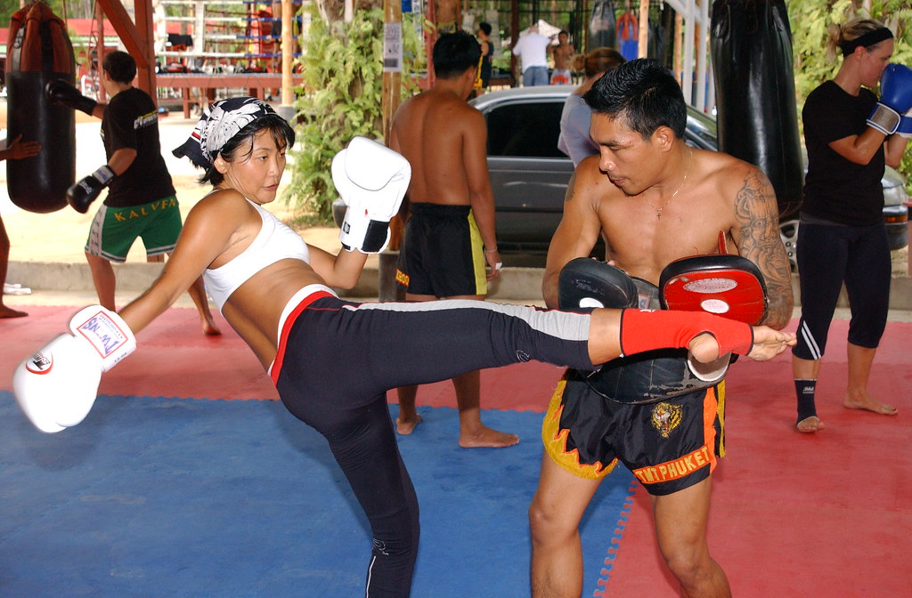 fashion Model Yanni works out with Kru Nazee
