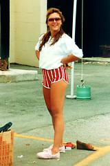 Woman Posing at Flea Market, 1984