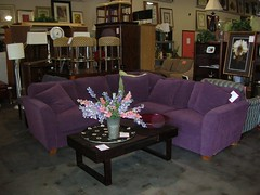Furniture affair - purple couch