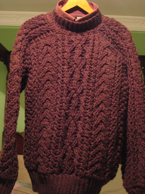 ARAN CROCHETED PATTERN SWEATER FREE PATTERNS