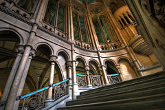 Town hall interior (tootdood) Tags: stairs geotagged manchester town hall raw interior canon20d columns steps single rails hdr handrails glanda anawesomeshot geo:lat=53479254 geo:lon=2244537 thinkcam