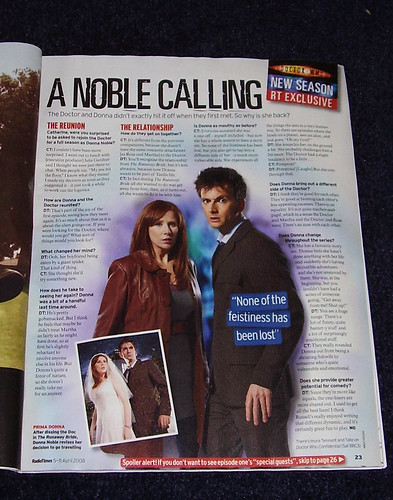 DR WHO RADIO TIMES - Donna Noble