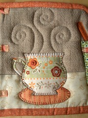 French Press Cozy - detail (PatchworkPottery) Tags: ikea coffee french cozy tea handmade sewing crafts frenchpress quilted patchwork press applique kaffe teacozy bodum zakka