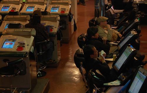 Détente électronique, faux paris de fausses courses