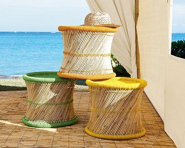 pottery barn taj stool